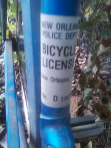 nola bike license